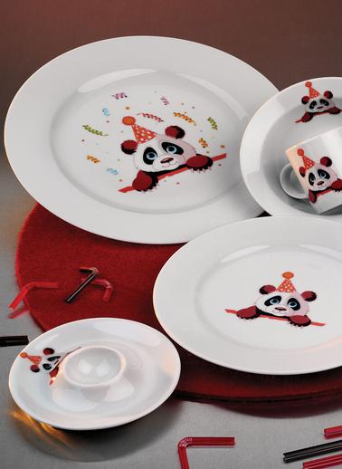 Kütahya Porselen Meraklı Panda Mama Takımı Renkli